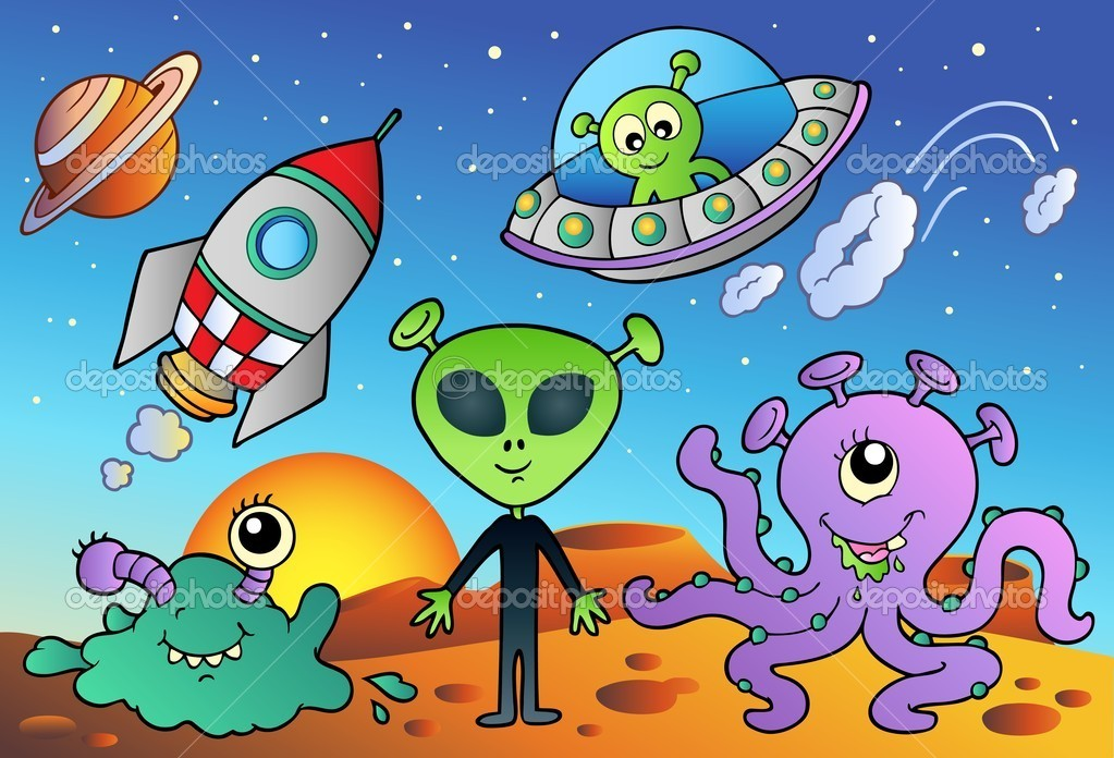 Cartoon Space Aliens
