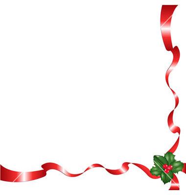 12 Vector Christmas Ribbon Frames Images Red Ribbon Page