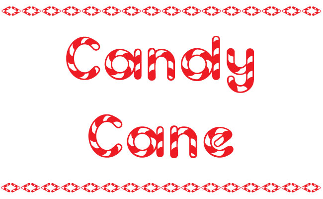 Christmas Free Cane Fonts.candy