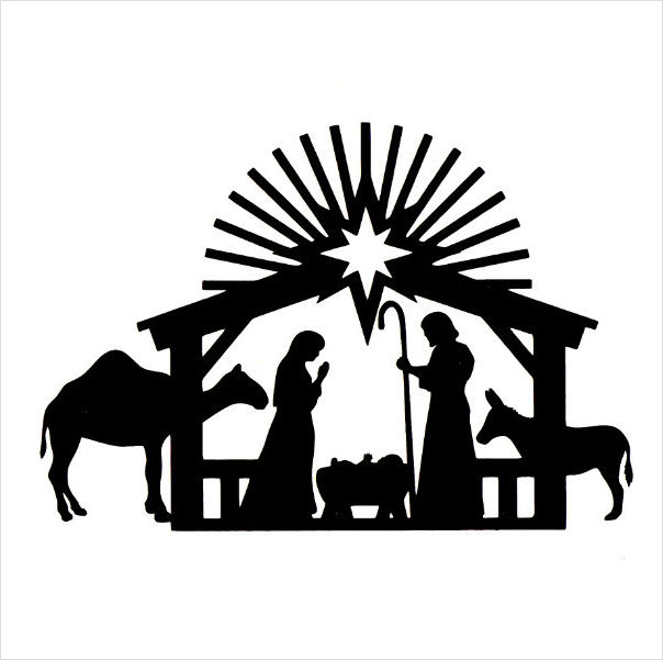 13 Nativity Vector Black PNG Images
