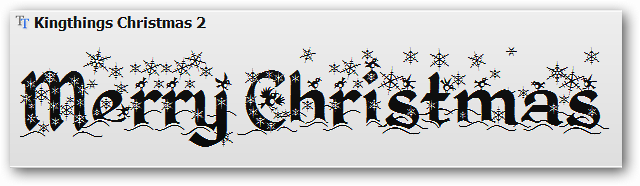 Christmas Wingdings Font