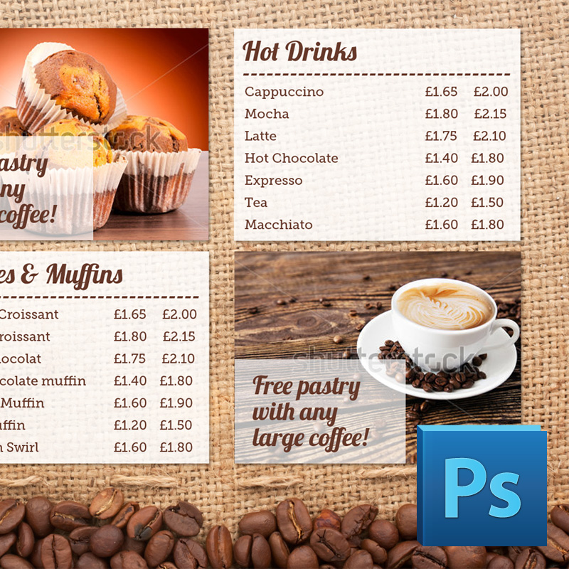 15 Menu PSD Template Images