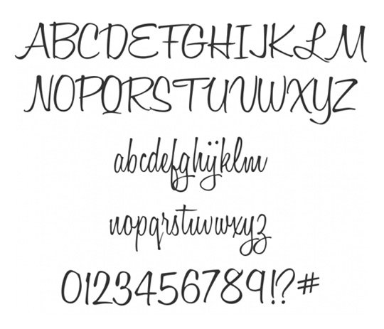 Cool Writing Fonts Alphabet