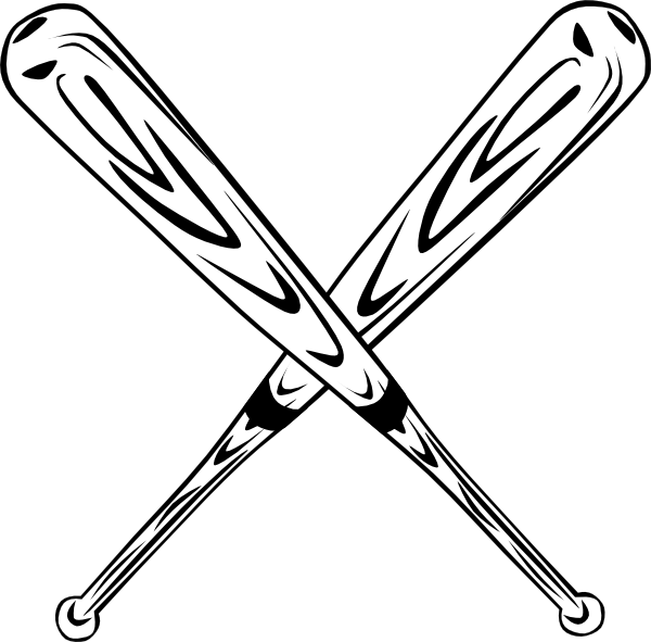 Crossed Baseball Bats Clip Art