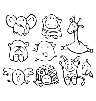14 Baby Animal Vector Art Images