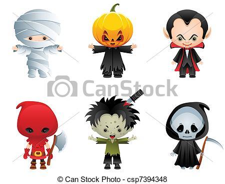 Cute Halloween Character Clip Art
