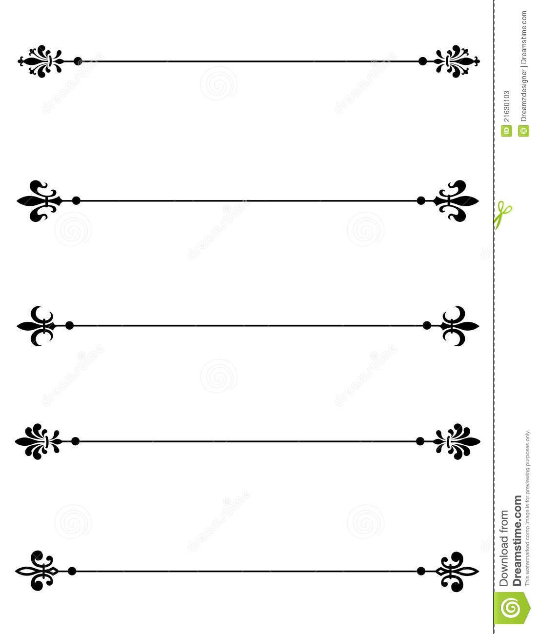 14 Fluer De Lis With Decorative Divider Clip Art Free Vector Images