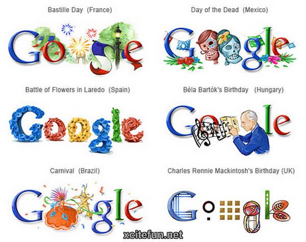 Different Google Logos