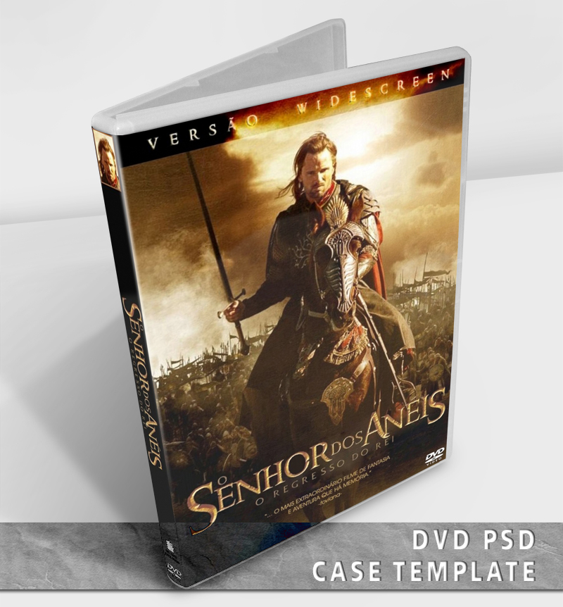 DVD Case Template PSD