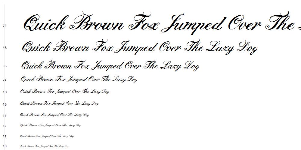 English Hand Script Font