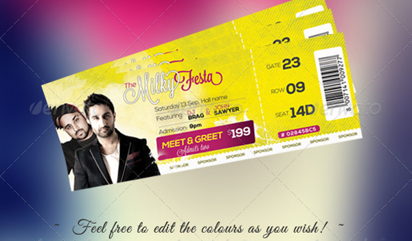 10 PSD Event Ticket Template Images