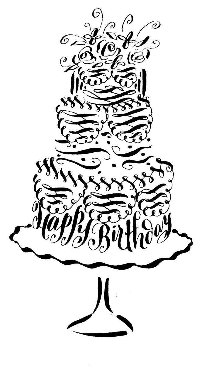 Fancy Cursive Happy Birthday