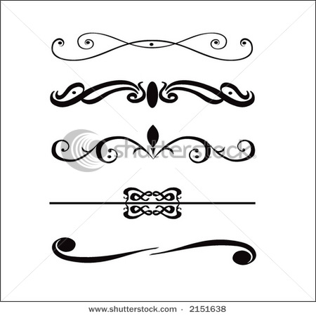 Fancy Vector Borders Clip Art