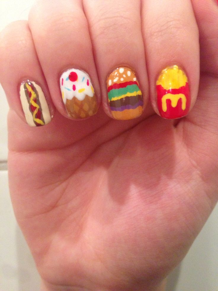 14 Nail Designs Food Images