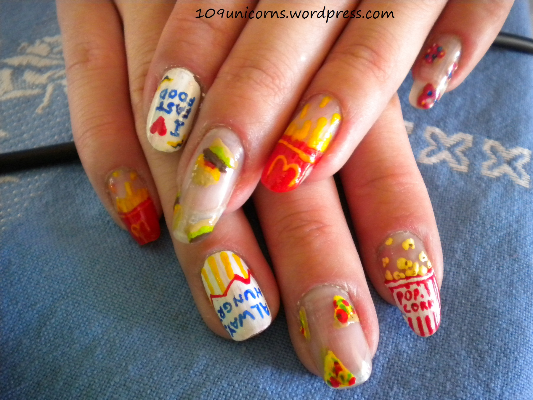 14 Nail Designs Food Images - Fast Food Nail Art, Food Nail Art and ...