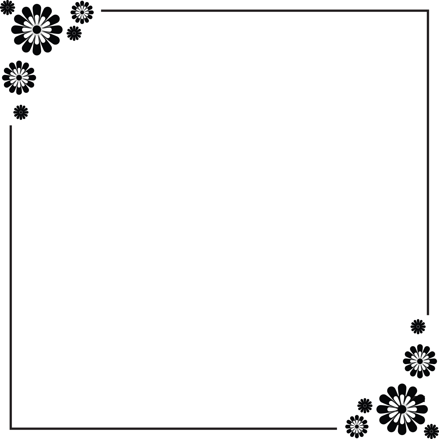 12 simple border design paper images flower border