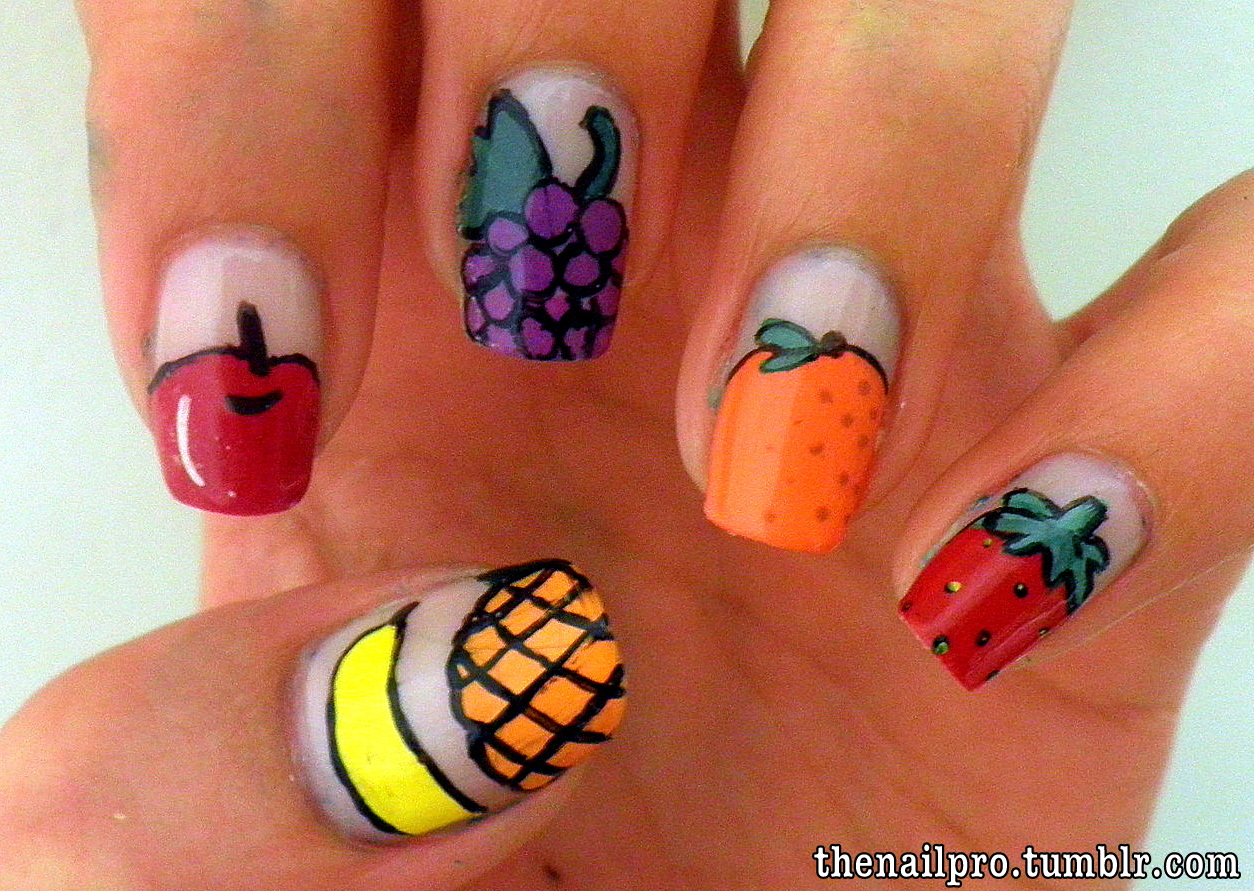 Nail Art Ideas » Food Nail Art - Pictures of Nail Art Design Ideas