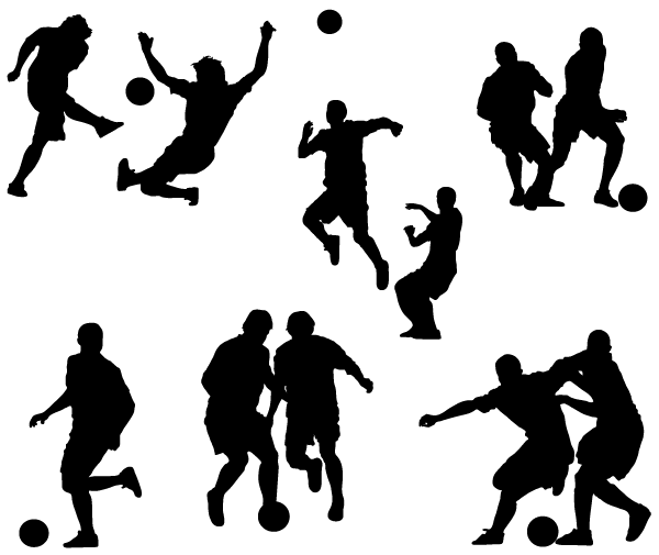 13 Soccer Silhouette Vector Free Images