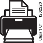 Free Black and White Computer Printer Icon