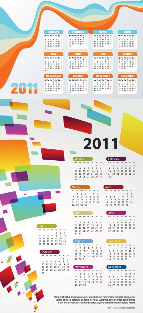 Free Calendar Design Templates