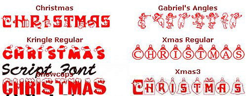 Free Christmas Fonts Downloads