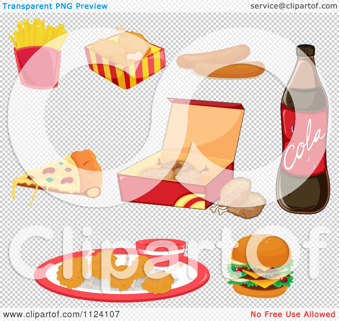 Free Clip Art of Cartoon Junk-Food