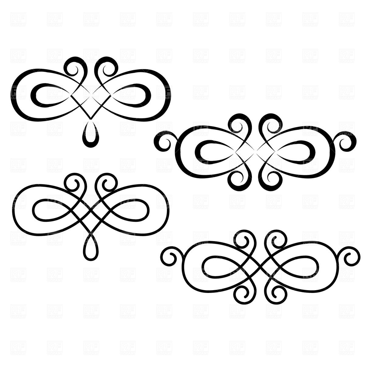Clip Art Design : Free vector elegant swirls images swirl