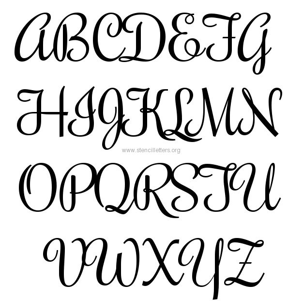 14 Fonts And Free Printable Letters Images