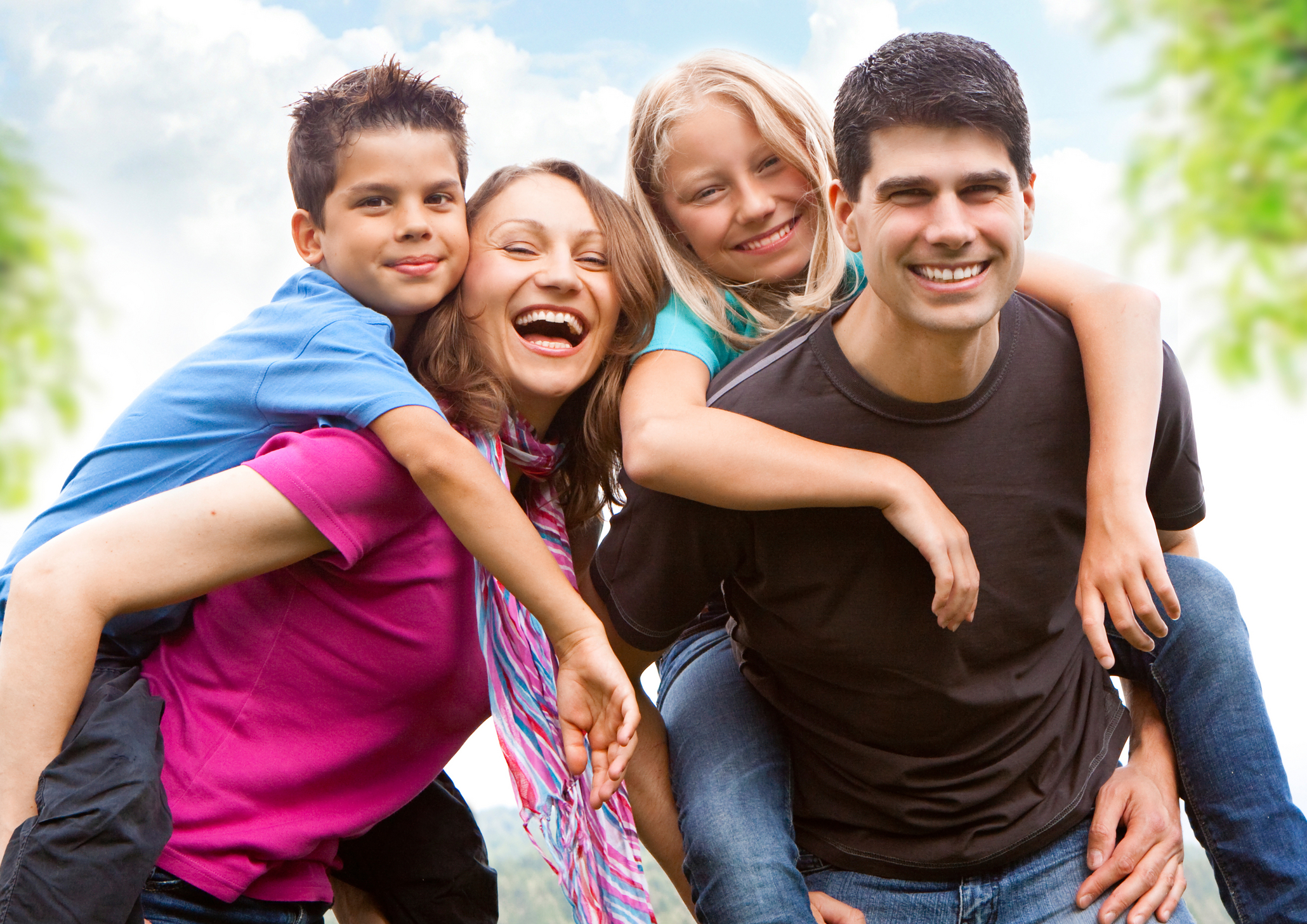 6 Families In Church Stock Photos Images