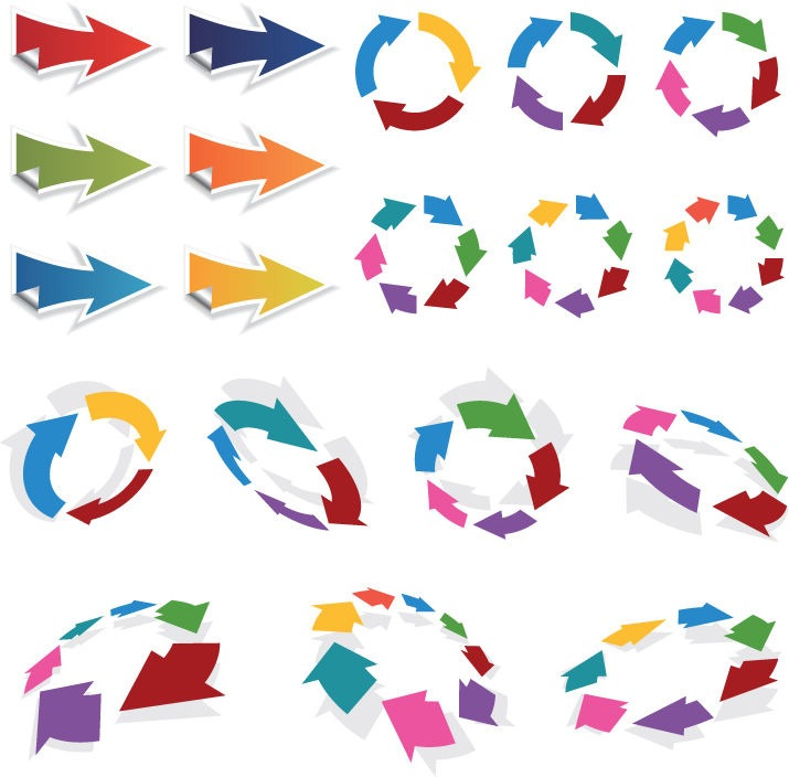14 Free 3D Vector Arrows Images