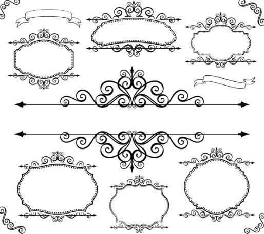 18 Floral Frames And Borders Vector Images