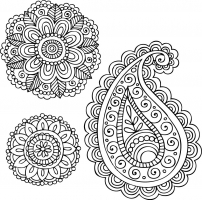16 Simple Paisley Vector Images
