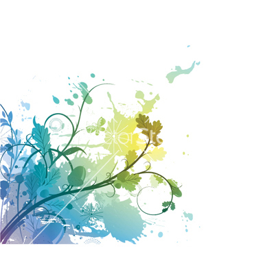8 Free Watercolor Vector Flower Images