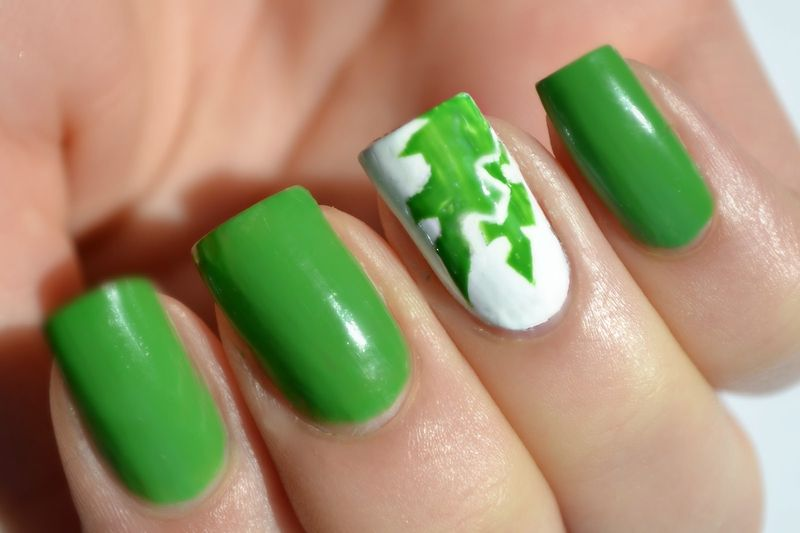 19 Fingernail Designs With Green Images Green Nail Art Design