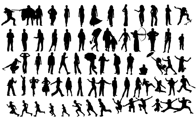 Human Figure Silhouette Vector