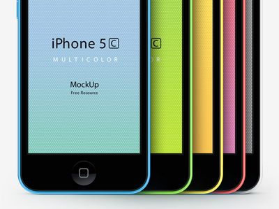 9 IPhone 5C PSD Images
