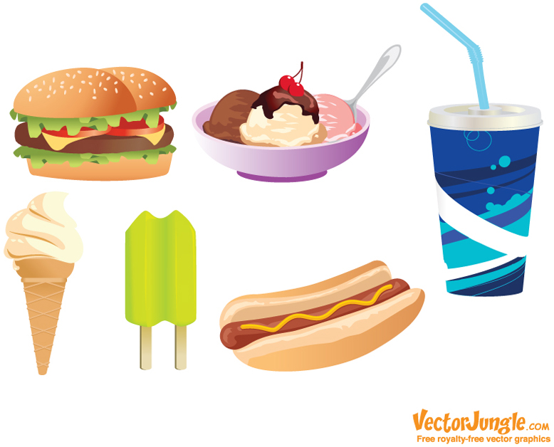 17 Junk-Food Vector Free Images