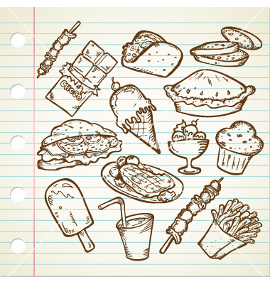 Junk-Food Drawings