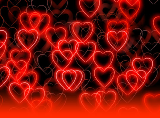 13 Hearts Backgrounds Photoshop PSD Files Images
