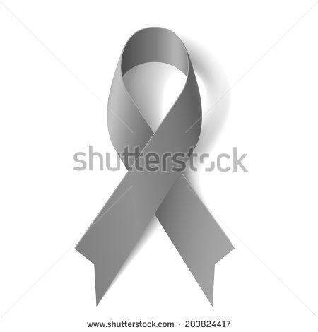 6 Grey Cancer Ribbon Vector Images