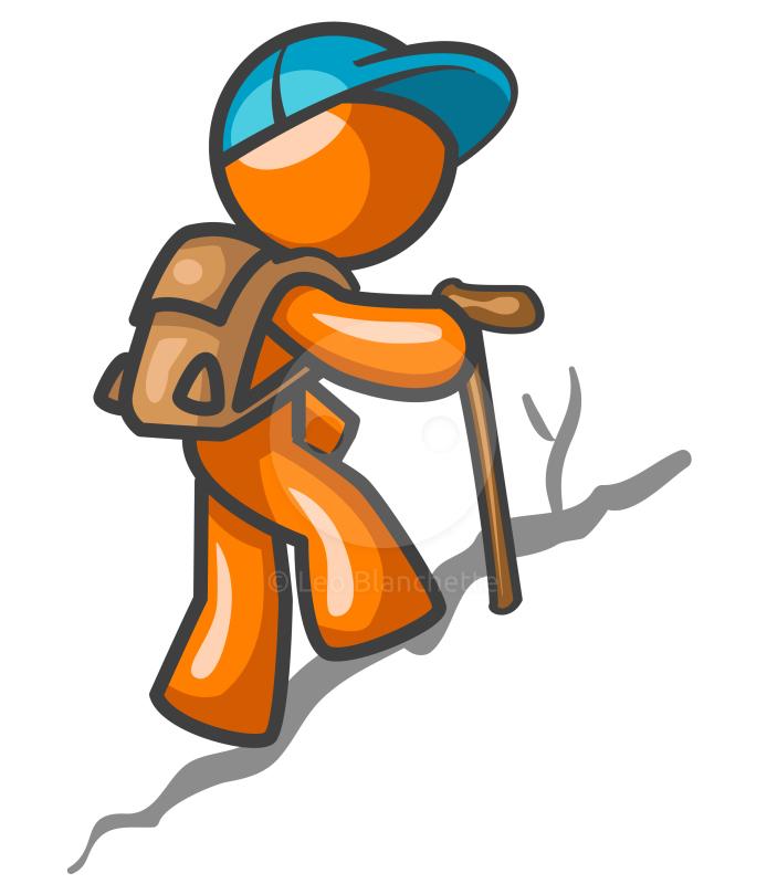Man Hiking Clip Art