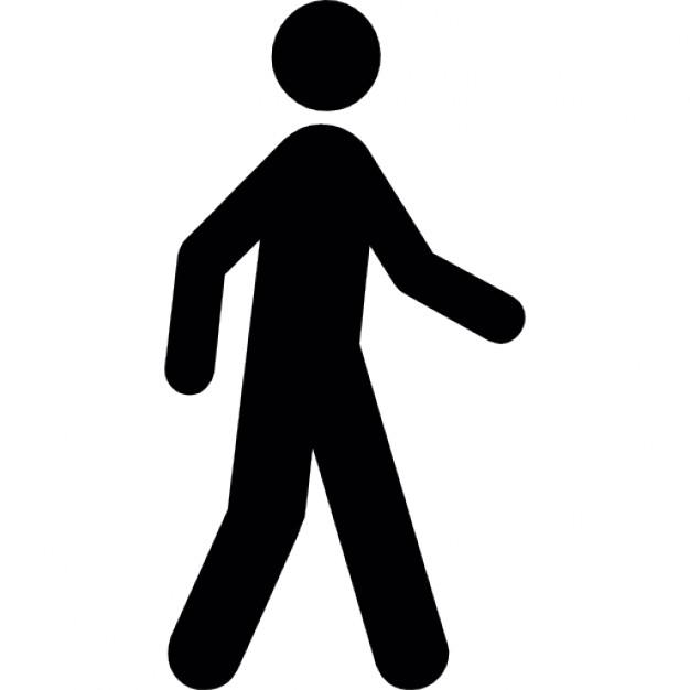 Man Walking Silhouette Vector