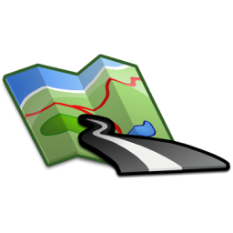 10 Road Map Icon PNG File Images