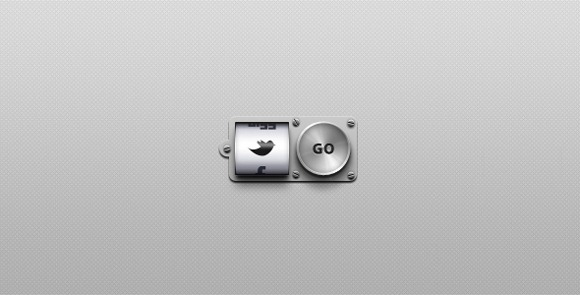 Metal Social Media Buttons Free