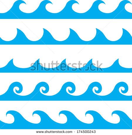 14 Simple Wave Line Vector Images