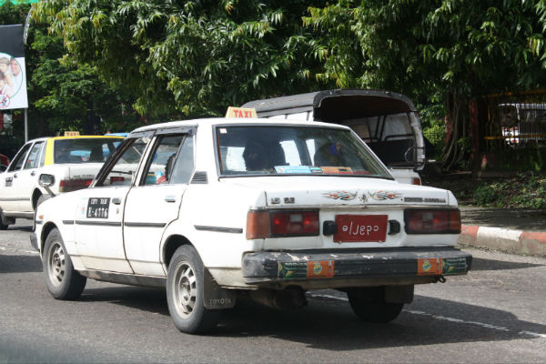Old Toyota Corolla Taxi