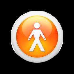 Orange 3D Person Icon