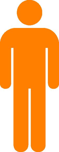 Orange Man Person Clip Art