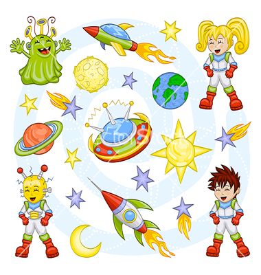 Outer Space Cartoon Characters