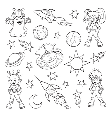 Outer Space Cartoon Drawing